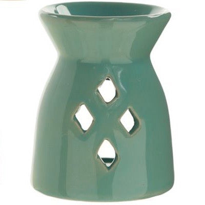 Light Blue Diamond Wax Warmer/Burner with a pack of 10 FREE Scented Melts