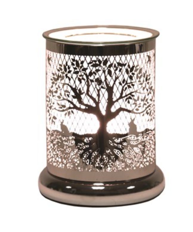 Cylinder Tree of Life Electric Wax Warmer/Burner with a pack of 10 FREE Scented Melts (3165)