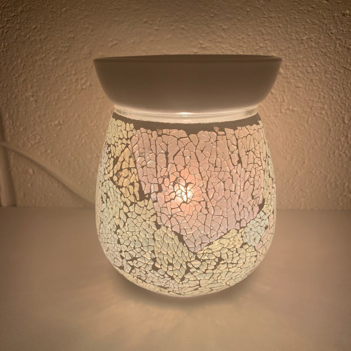Pearl Crackle Electric Wax Warmer/Burner with pack of 10 Scented Melts (3029)