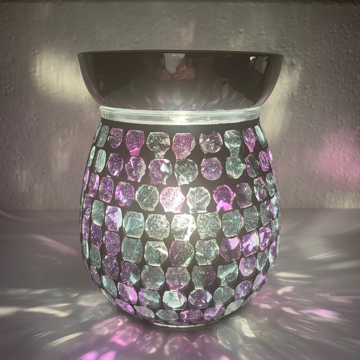 Purple Mirror Electric Wax Warmer/Burner with pack of 10 Scented Melts (3111)