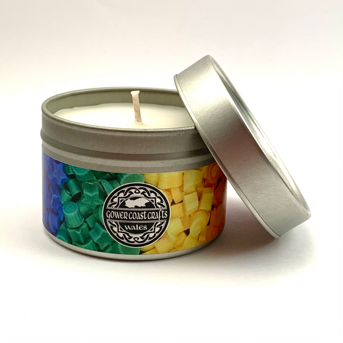 Lime Basil & Mandarin Handpoured Highly Scented Candle Tin
