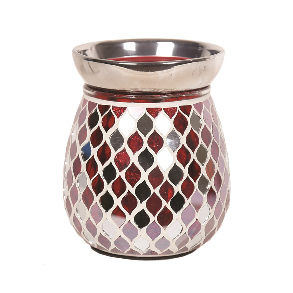 Red Mirror Teardrop Electric Wax Warmer/Burner with a pack of 10 FREE Scented Melts (3105)