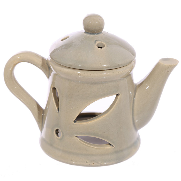 Brown Teapot Wax Warmer/Burner with a pack of 10 FREE Scented Melts