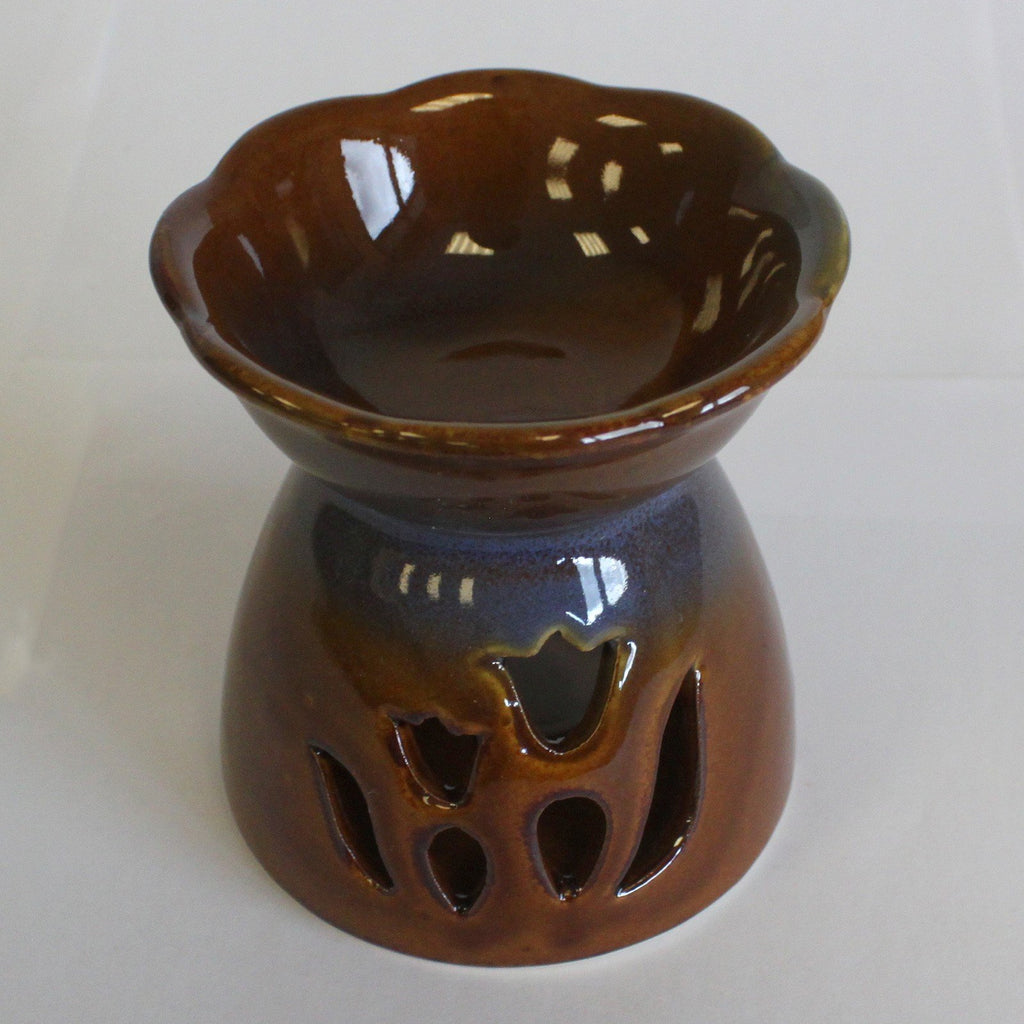 Brown Tulip Wax Warmer/Burner with a pack of 10 FREE Scented Melts