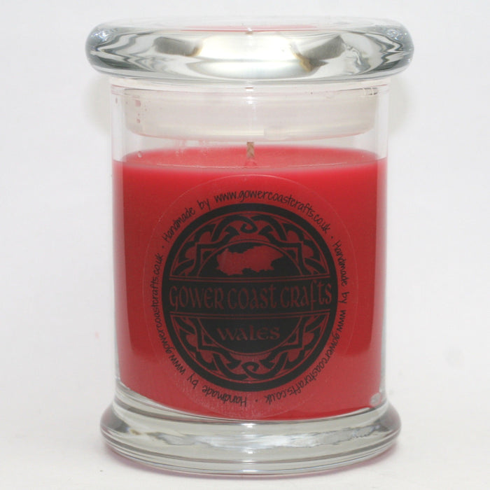 Candy Cane Handpoured Highly Scented Medium Candle Jar