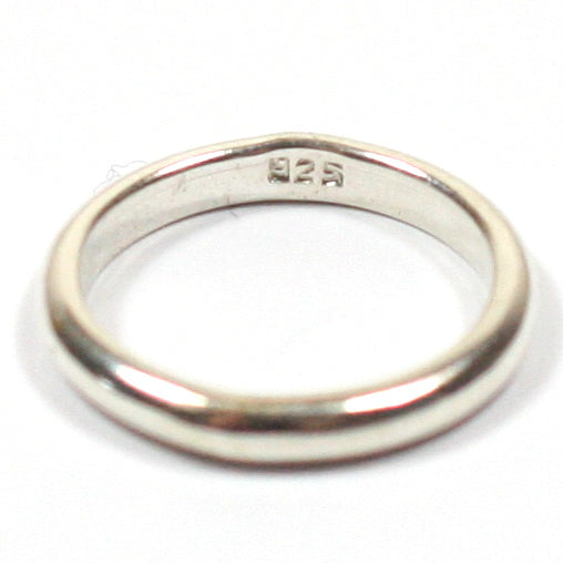 Handmade Solid Silver 925 Hallmarked 3mm x 2mm D Band Ring