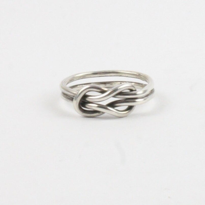 Solid Silver 925 Handmade 1.5mm Double Band Infinity Ring