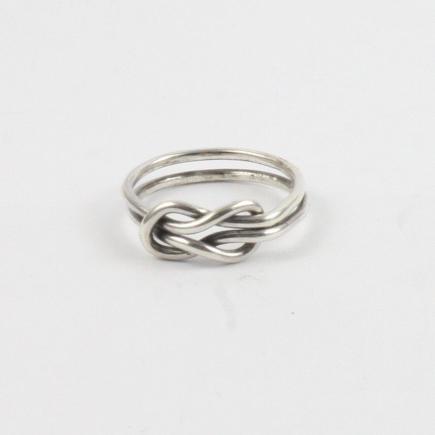 1919615e72516 Buy Solid Silver 925 Handmade 1.5mm Double Band Infinity Ring by ...
