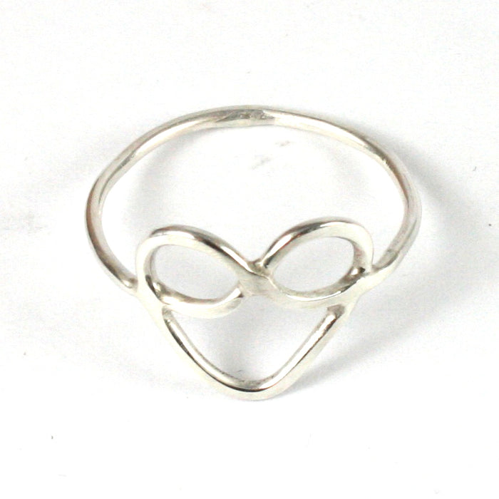 Handmade 1.2mm Solid Silver 925 Heart Ring