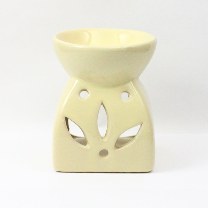 Square Flower Cream Wax Warmer/Burner with pack of 10 Scented Melts