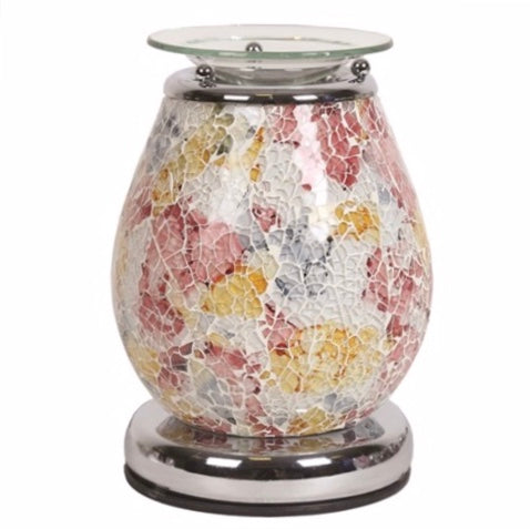 Minerva Touch Mosaic Electric Wax Warmer/Burner with pack of 10 Scented Melts (3136)