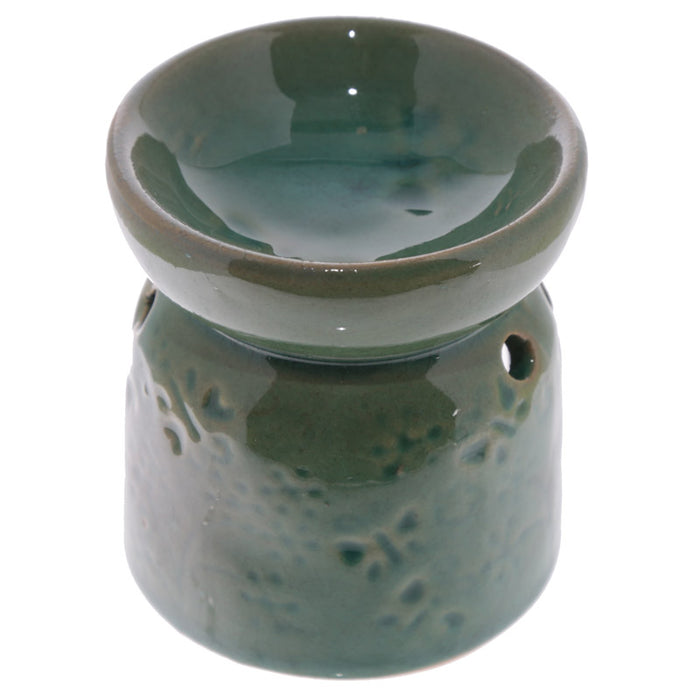 Small Green Butterfly Wax Warmer/Burner with a pack of 10 FREE Scented Melts