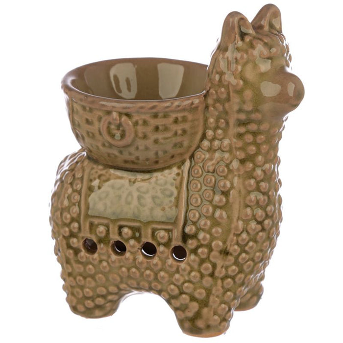 Green Llama Wax Warmer/Burner with a pack of 10 FREE Scented Melts