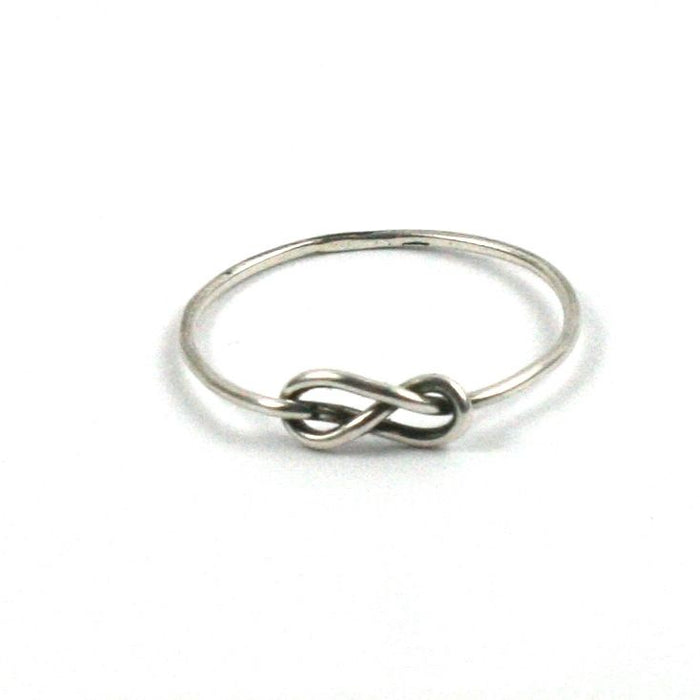 Handmade Solid Silver 925 Handmade 1mm Single Band Infinity Ring