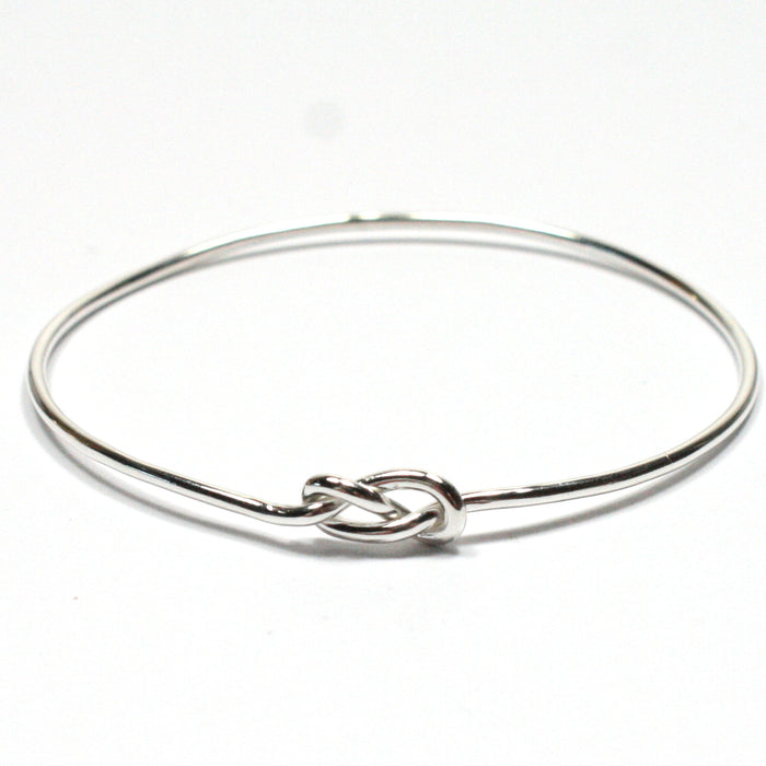 Solid Silver 925 Handmade 1.8mm Infinity Bangle
