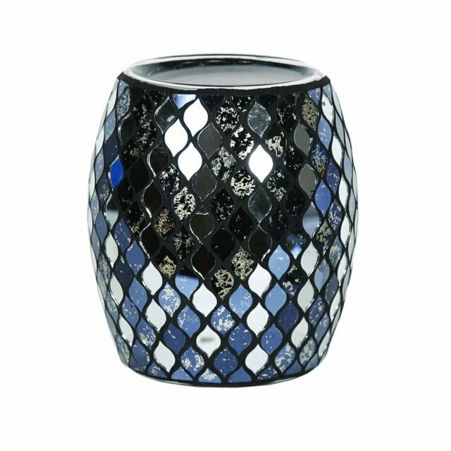 Black Mirror Teardrop Electric Wax Warmer/Burner with a pack of 10 FREE Scented Melts (3106)