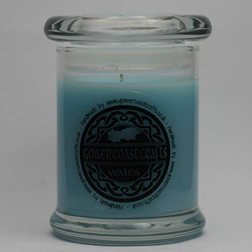 Unstoppable Fresh Blue inspried Handpoured Highly Scented Medium Candle Jar