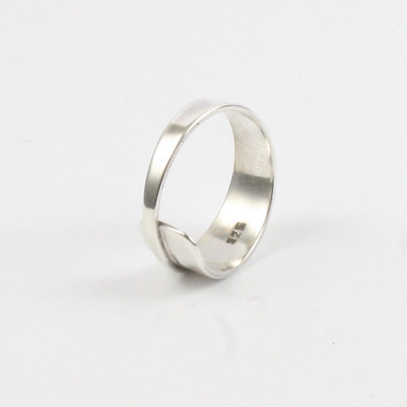 Solid Silver 925 Handmade Personalised Spoon Style Ring