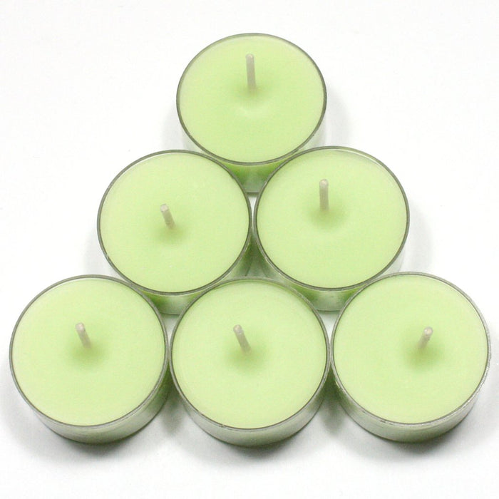 Fresh Mint & Rhubarb Handpoured Highly Scented Tea Light Candles Tealights pack of 6