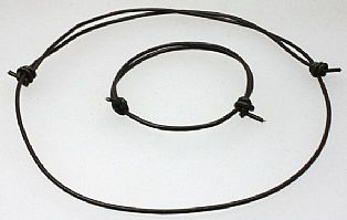 Handmade Leather Thong Necklace and Bracelet
