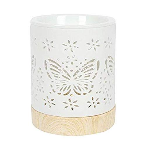 Ceramic Butterfly Wax Warmer/Burner with pack of 10 Scented Melts