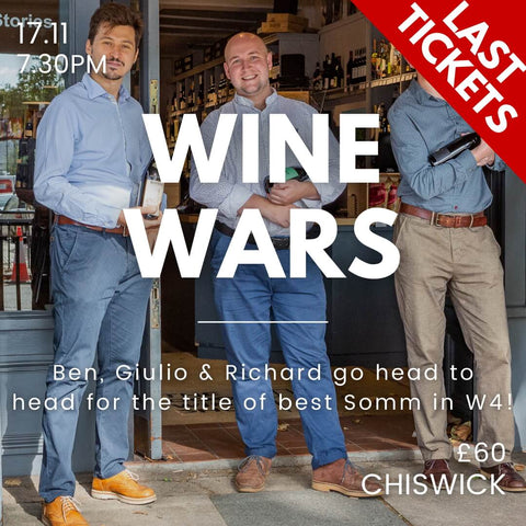 Chiswick Event - War Wars Tasting on the 17th Nov.