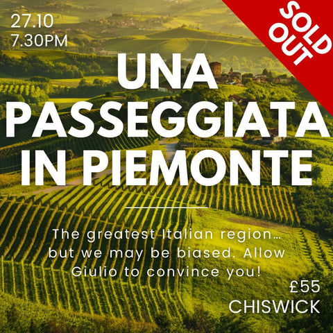 Chiswick Event - Piemonte Tasting on the 27th Oct.