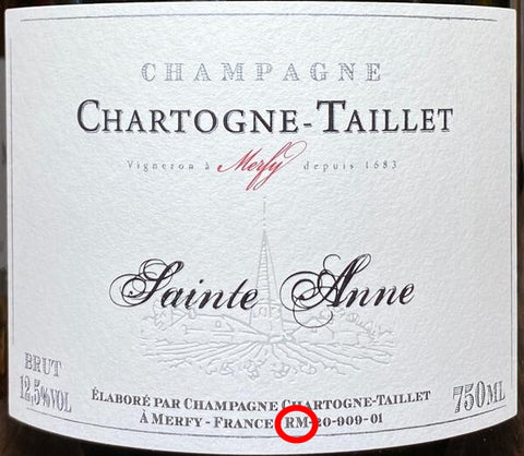 Récoltant-Manipulant - how it looks on label - Champagne Chartogne-Taillet