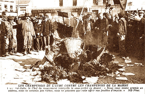 Champagne Riots in 1910