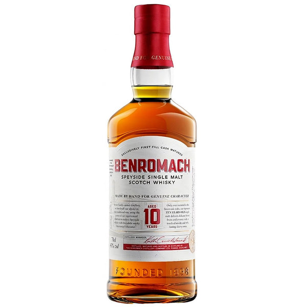 Benromach, 10 Year Old Single Malt Whisky, Speyside The Good Wine Shop