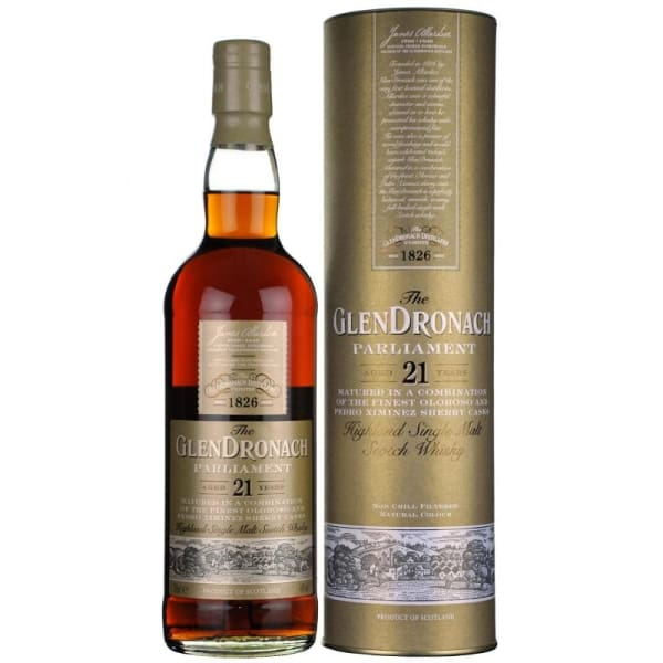 Glendronach - Parliament 21 Year Old Single Malt Scotch whisky - Spirits