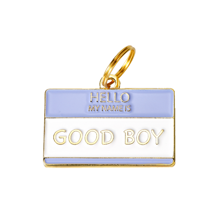 Pet ID Tag - Hello My Name is 'Good Boy' - foxyfido