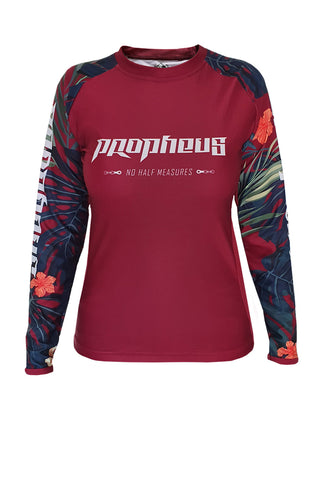 Ladies Jersey Bordeaux Jungle Langarm