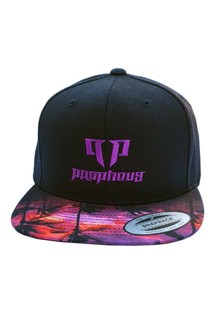 Classic Snapback Cap Purple Tropical