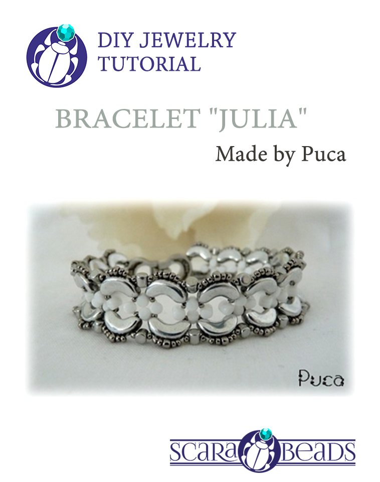 "Free Tutorial: Bracelet ""Julia"" by Puca"