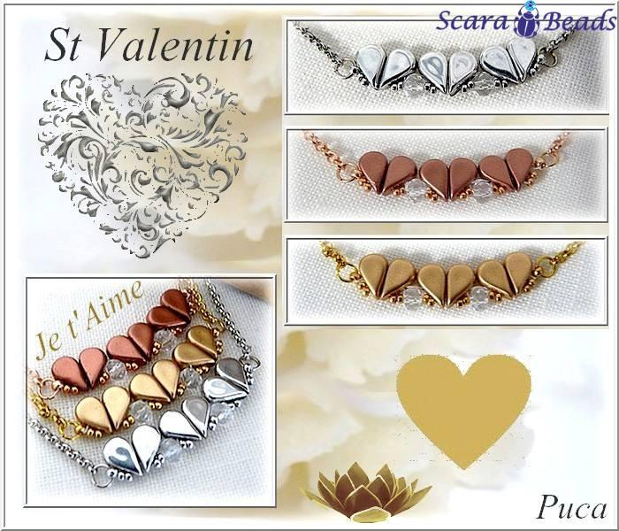 Necklace Tutorial: ST. Valentin by Les perles par Puca