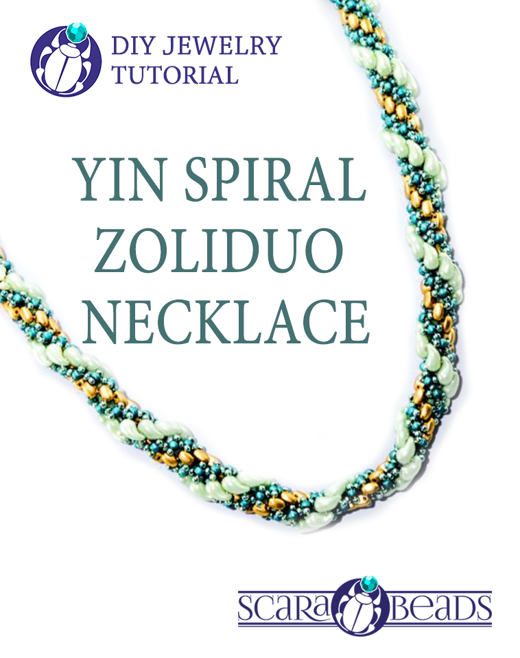 Free Tutorial: Yin Spiral ZoliDuo Necklace