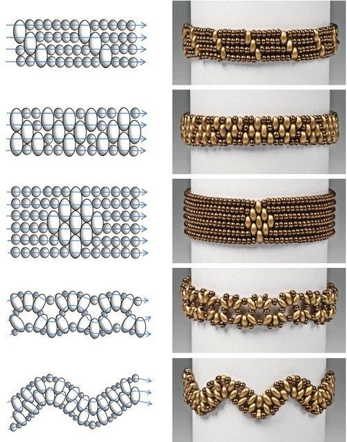 Handmade: Bracelets made of SuperDuo Beads