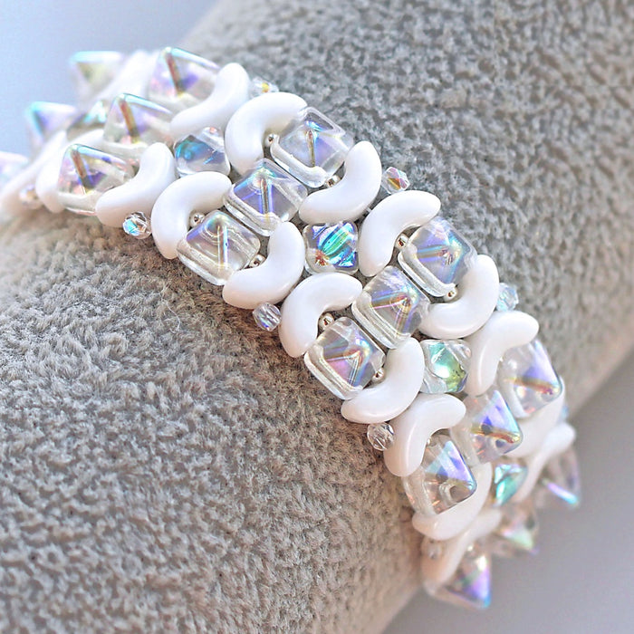 "TUTORIAL BRACELET ""SNOW QUEEN"" (Free for SCARABEADS)"