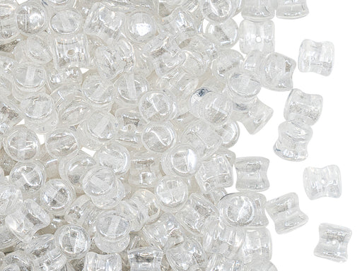 Pellet Perlen 4x6 mm Kristall Luster Tschechisches Glas Farbe_Clear