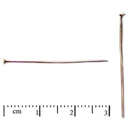 20 St. Headpin 30mm, Gold