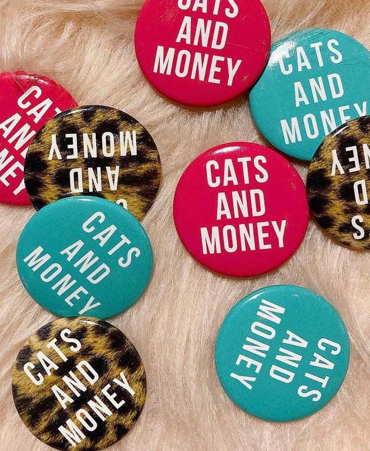 CATS AND MONEY PIN TRIO