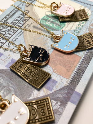 CATS AND MONEY NECKLACE