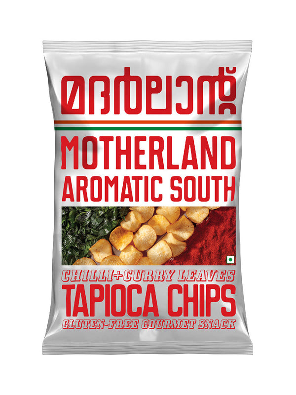 Tapioca Chips with Chilli and Curry Leaves - Pack of 3