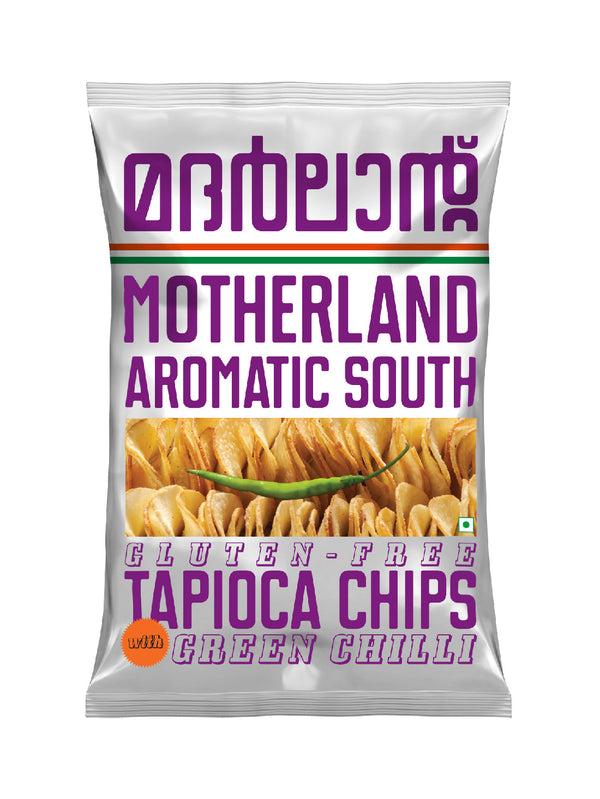 Tapioca Chips with Green Chilli - Pack of 3