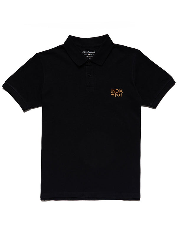 Bharat-India Polo Shirt - Black