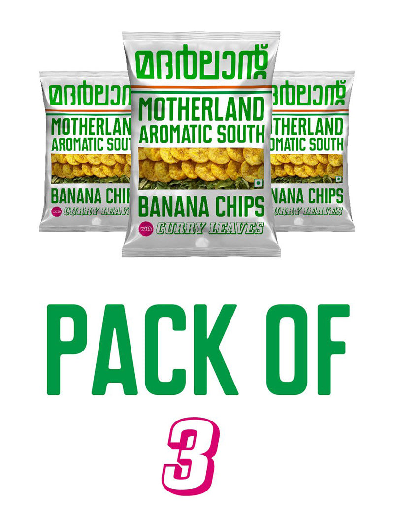 Banana Chips With Curry Leaves - Pack Of 3