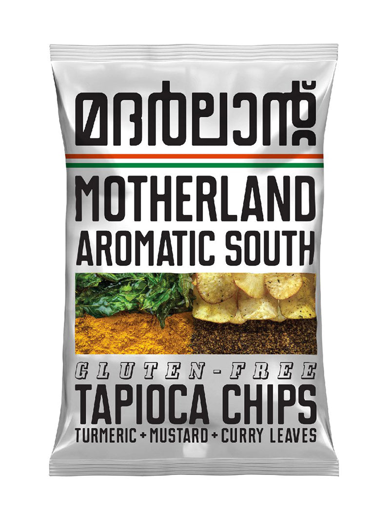 Tapioca Chips with Turmeric, Mustard and Curry Leaves - Pack of 3