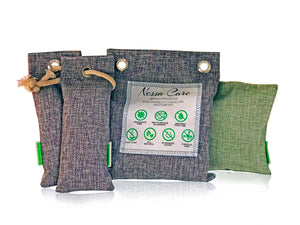Nessa Care Natural Bamboo Charcoal Freshener Odor Eliminator Deodorizer 4 Air Purifying Bags