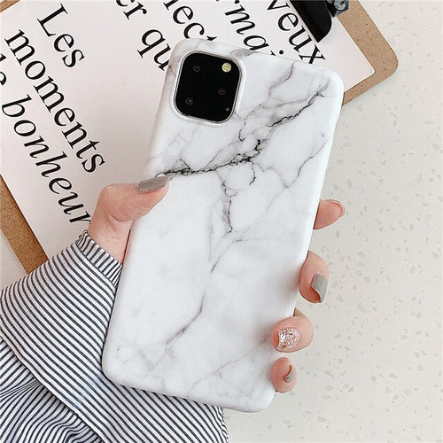 Noble White Marble Case For iPhone 11 Pro/Pro Max